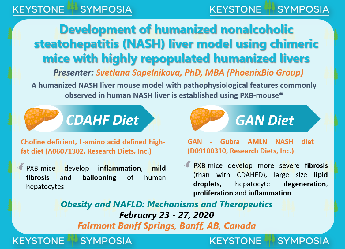PhoenixBio presents NASH Poster at Keystone Symposia: Obesity and NAFLD in Banff. Canada