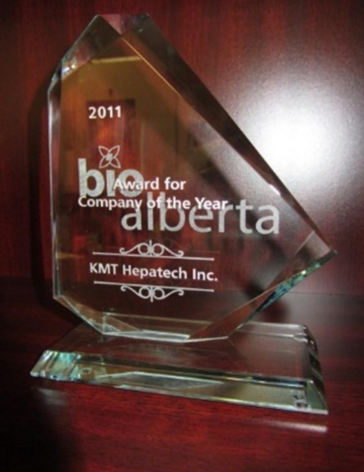 BioAlberta 2011 Company of the Year Award